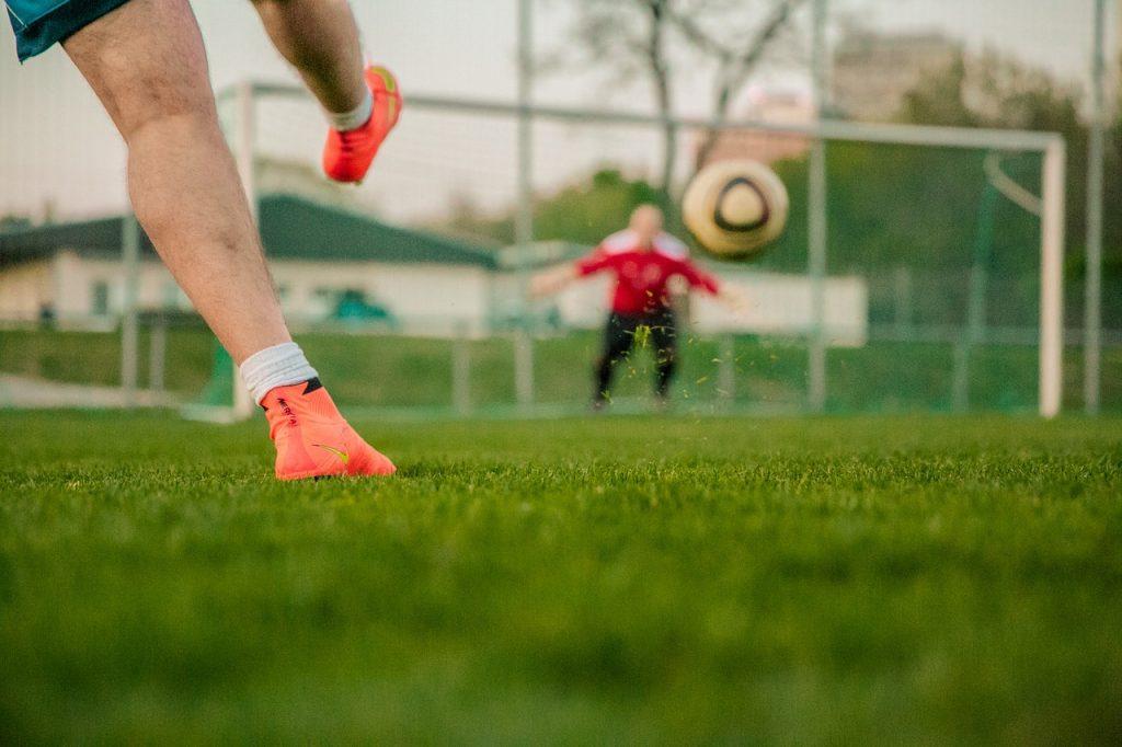 football, shot on goal, door husband