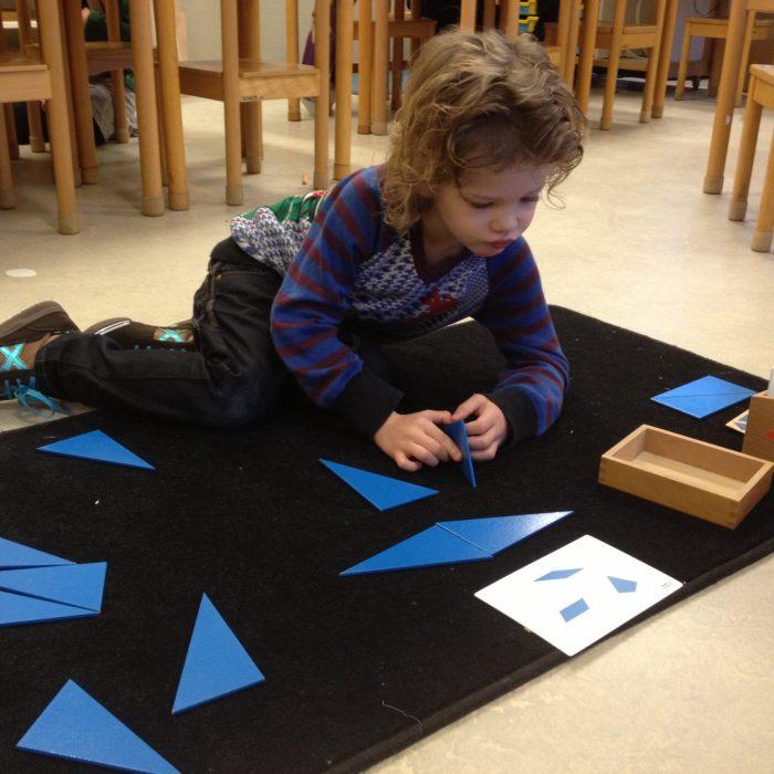 Blauwe driehoeken